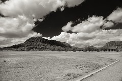 Fort Davis Clouds (Tom Haymes) Tags: blackandwhite mountain clouds buffalosoldiers wildwest cavalry bigbend fortdavis davismountains bigbendtexas 10thcavalry fortdavistexas fortdavisnationalhistoricalsite fortdavisnationalpark tenthcavalry cavalryoutpost