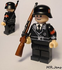 Waffen SS Parade Soldier WWII LEGO (MR. Jens) Tags: world two germany war wwii ss german ww2 second 1939 lah waffen