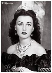 HIM Empress Fawzia Of Iran's Seated-Portrait [C] - Tehran In 1940's (Tulipe Noire) Tags: africa portrait egypt middleeast persia 1940s egyptian wife empress tehran reza mohamed shah pahlavi fawzia