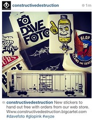 Free stickers with orders from our webstore (CONSTRUCTIVE DESTRUCTION) Tags: dave ink graffiti dvd foto destruction stickers end stc decals villains vandals glop slaps constructive buse wyze