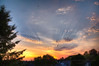 Sunset from the roof of short house (janusz l) Tags: sunset colors clouds plane colours bc surrey neighborhood rays neighbourhood god's roofshot janusz leszczynski 134829 8182012