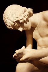 Spinario (wamcclung) Tags: sculpture male statue nude foot head classical copy spinario bilbaospain