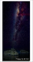 StarWars (Kiall Frost) Tags: ocean sky seascape lightpainting water night dark stars landscape photography nikon rocks photographer nightscape pano australia panoramic southerncross gas nsw newmoon milkyway nn5 forrestersbeach d7000 kiallfrost