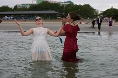 BlackTieBeach 074 (ittoku.lee) Tags: black castle beach water boston sand warmth tie suit tuxedo sos splash society tux revere spontaneity societies bostonsos