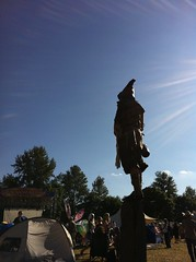 Faerie Worlds 2012, Eugene, Oregon (AlpineDaisy) Tags: from stone circle mt view you photos or fairy sword perch warrior hood balance everyone festivalx dancex fantasyx costumex creativex oregonx eugenex worldsx faeriex pisgahx