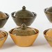 4039. Six Jugtown Dome Lidded Bowls