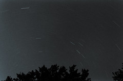 236/366 whats it like up there? (sameoldkev) Tags: longexposure trees sky bw night stars star skies space satellite august ufo trail 2012 startrail upthere 366project