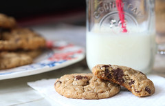 cookies & milk (souhaites) Tags: food cookies milk chocolate oatmeal peanutbutter