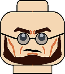 Arkham City Hugo Strange Head (thepyromaster) Tags: city strange dc sticker comic lego head dr batman decal minifig hugo custom minifigure arkham