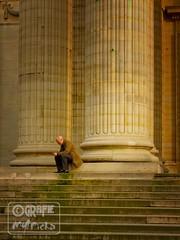 Thinking on Public Stairs (garfie76) Tags: street light paris color men scale stairs nikon natural uomo rue urbanlandscape parigi escaliers publicstairs d5000 grafiemypicha