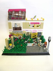 Eurobricks SoF Olivia's Haunted House.. (Hammerstein NWC) Tags: roof friends lamp grass cross post lego apocalypse swing planks boarded apoc sunlounger eurobricks apawk summeroffriends
