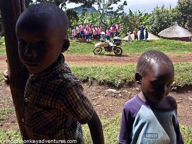 Curious Children, Mt Elgon