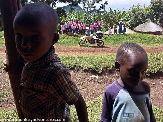 Curious Children, Mt Elgon
