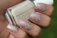 Delicate Stamping (NailsbyCoewless) Tags: nude nails stamping nailpolish essie chinaglaze coewless xlplate