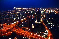(~   ~) Tags: tower night out photography focus dubai bokeh top uae aerial khalifa senset burj   atthetop             isfp