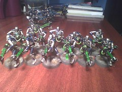 Necrons Warriors (geekolas) Tags: space battle 40k warhammer warriors marines 40 000 wargames immortals necrons immortels
