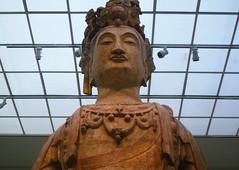 Bodhisattva, probably Avalokiteshvara (Guanyin), with detail of bust