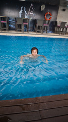Naz making waves (jenschuetz) Tags: travel vacation holiday swimming southeastasia relaxing malaysia kualalumpur kl overseas skybar tradershotel openairpool 33rdfloor gettinouttadodge