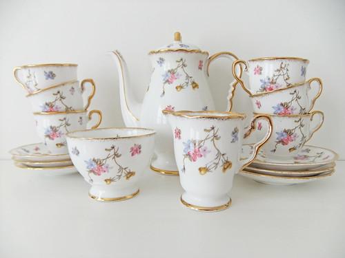Royal Stafford Violets Pompadour Coffee Set