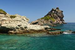 Mamma Mia Church on Skopelos (Holfo) Tags: ocean sea seascape film church rock landscape greek islands nikon mediterranean famous greece greekislands idyllic skopelos headland waterscape mammamia d5100