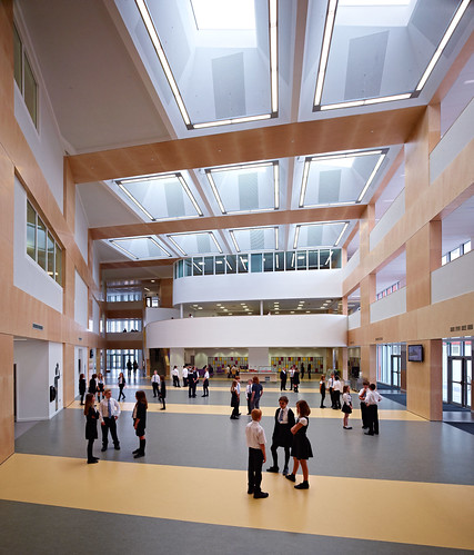 Park Mains High School by Holmes Miller