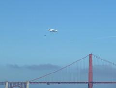 Shuttle over Golden Gate bridge (vafanas) Tags: goldengatebridge shuttle endeavour