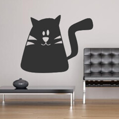 Sticker chat enfant (Muriel Alvarez) Tags: cute cat chat stickers cartoon murals childrenchild autocollants walldecals kidskidroom