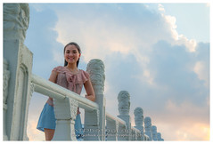 Yean (AT.Photography) Tags: life park bridge light sunset shadow red portrait people favorite orange woman white black color cute green tower art girl beautiful smile grass composition contrast pose garden print photography golden evening daylight stand photo amazing model singapore asia pretty bright sweet bokeh modeling outdoor sister traditional great models chinese perspective young longhair culture front romance lovely staring naturalight 2012 1755 60d