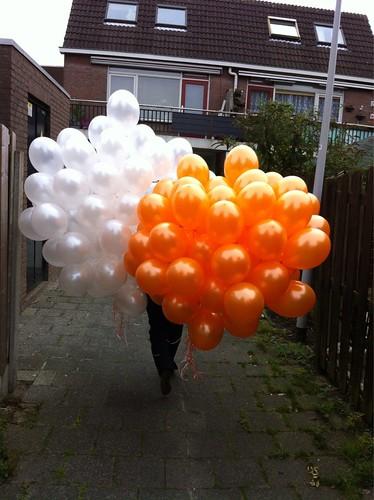 Heliumballonnen Wit Oranje