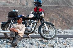 Vagabond (Viswas Nair TK) Tags: india bike nikon desert north royal nikkor ladakh enfield tk nair vagabond d90 nubra 350cc viswas 18105mm khalsar
