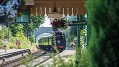 Harmans Cross Station 02 (Matt_Rayner) Tags: swanage railway 34070 manston sr battle of britain class steam train