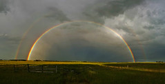 Aftermath (Len Langevin) Tags: storm aftermath rainbow spectrum landscape alberta canada samsung phonecamera galaxy s6