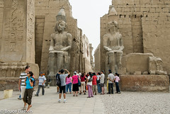 090504 Luxor Temple-03.jpg (Bruce Batten) Tags: monumentssculpture people egypt subjects businessresearchtrips trips occasions locations luxor eg