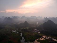 Sunset at Wuzhi Shan (claying) Tags: olympus em5 panasonic lumixgxvario1235mmf28asphpowerois china guilin yangshuo putao wuzhishan sunset guangxi        karst