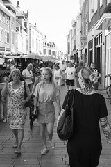 Difference (Dutch_Chewbacca) Tags: woman women girl girls age difference different blondes tattoo young old street city urban life bw monochrome candid unposed unpolished straatfotografie streetphotography nl 073 shertogenbosch den bosch denbosch dutch holland meisje vrouw zomer summer hot heet 24 august 2016 noordbrabant nederland the netherlands feminine female venus pretty beauty alternative noir et blanc blackandwhite blackwhite zwart wit