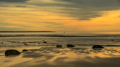 August Rocks at the Beach (Bud in Wells, Maine) Tags: drakesisland wells maine beach morning reflections seascape