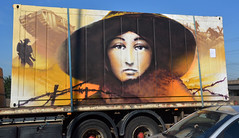 Shipping Container, Birmingham, West Midlands, UK (photobobuk - Robert Jones) Tags: urban art bohemian colour tone texture streetscene traffic shipping container road travel transport grafiti birmingham england uk