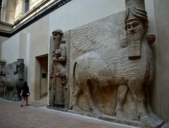 Assyrian Lamassu (tokyobogue) Tags: paris louvre france museedulouvre museum art gallery assyrian lamassu statue old ancient persia middleeast nikon d7100 nikond7100