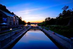 Ottawa Lock Station Sunset (AncasterZ) Tags: sunset lockstation ottawa