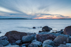 Just Another Sunset (Tuck Happiness) Tags: helsinki finland sunset evening dusk clouds ocean rocks shore landscape longexposure