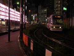 At Night a Train Approaches (CentipedeCarpet) Tags: panasonic gx8 micro four thirds tokyo otsuka japan       night lights street unlimited photos urbex urban asia