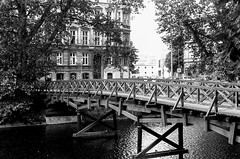Wroclaw (MCorrigan1983) Tags: 2016 400tx bw kodaktrix400 nikkor50mmf18d nikonf6 poland wroclaw film bridge