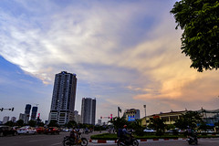 The end of the day (lehoang318) Tags: sunset blue clouds rays street building sky