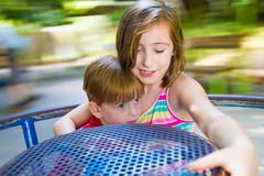 -  (lermaniac) Tags:  kids merrygoround carousel panning