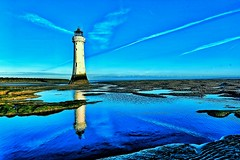 Out of the Blue. (pdean1) Tags: lighthouse blue newbrighton summersday