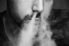 Dragonlike (Lala89_Photos) Tags: smoke smoking rauch rauchen man mann portrait schwarzweis blackandwhite blackwithe face gesicht nose nase