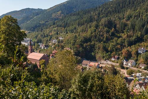 "Schiltach depuis le ""Schlossberg"""