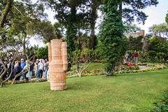 Capri - Gardens of Augustus Decorated Clay Urn (Le Monde1) Tags: italy capri sea coast island lemonde1 nikon d610 montesolara stmichael museum anacapri gardensofaugustus aphrodite bronze sculpture decorated urn clay