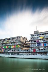 Villa Schweppes, before... (Kriss on flickr) Tags: pantin architecture streetart longexposure longexposureshot nd110 betc docks bellevilloise magasinsgnraux villaschweppes schweppes nikond800 nikkor2470f28 d800