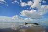 Heart of Glass (amirjina) Tags: sky fish reflection water clouds rural boat fisherman risk flood flash disaster isolation farmer sylhet bangladesh wetland 2012 resilience haor srimongal moulvibazar subsistence beel sreemangal sreemongal